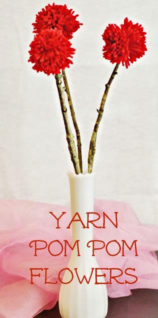 Pompons de tecido para fazer flores de decoração