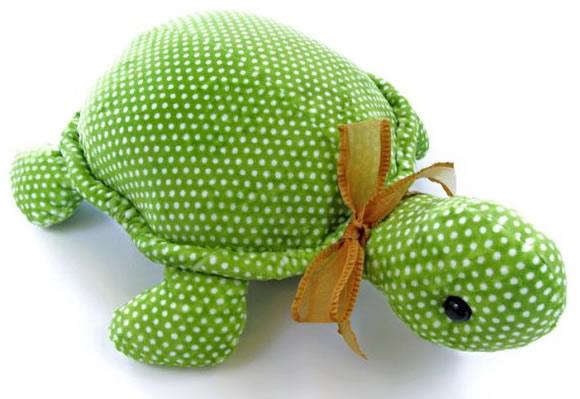 Tartaruga de tecido para peso de porta