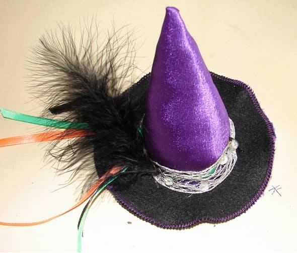 Chapéu de bruxinha passo a passo