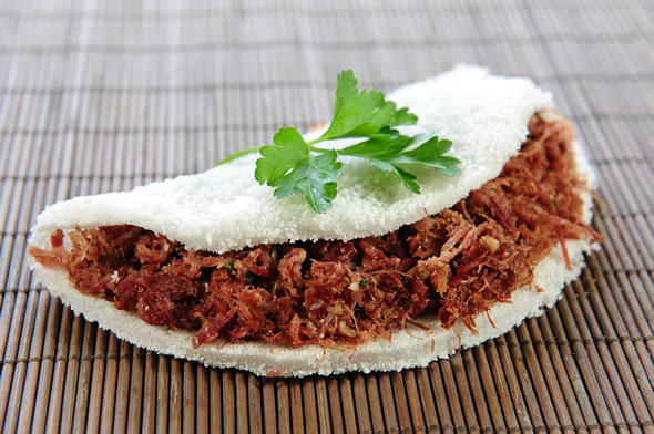Tapioca de carne de sol