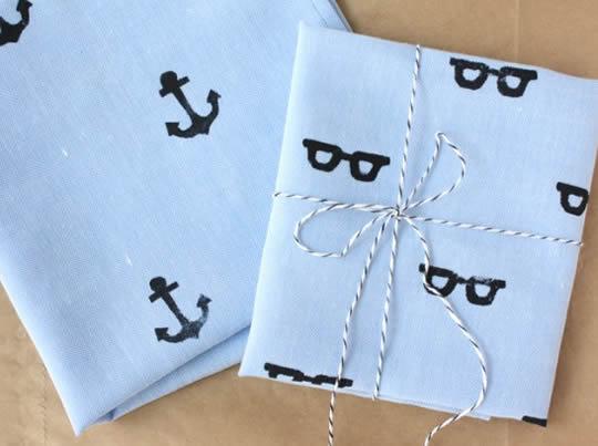 Presente criativo para o pai - Lenço personalizado para o Dia dos Pais