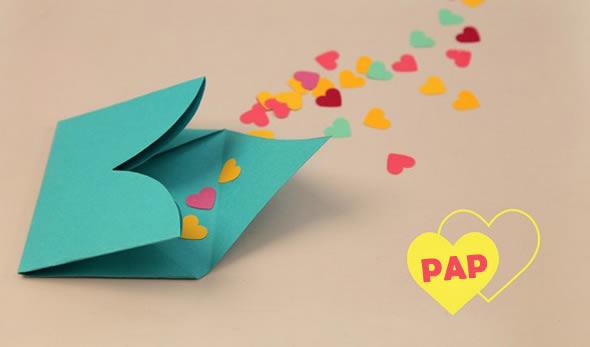 Cartão de coração passo a passo