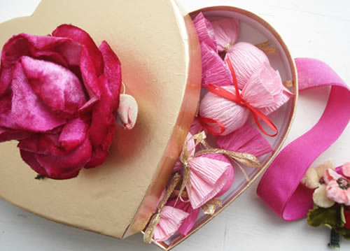 Presente romântico com bombons