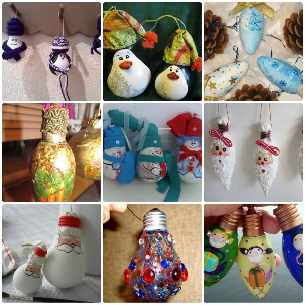Decoração com lâmpadas para o Natal