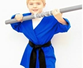 capa ninja fantasia infantil para carnaval
