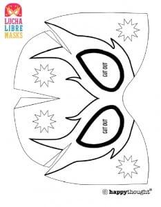 como fazer máscara de lucha libre de papel com molde passo a passo molde máscara de lucha libre 06