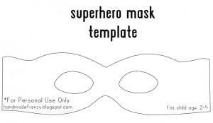 passo a passo máscara de super heroi de feltro MOLDE