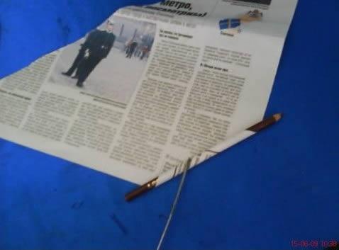 Artesanato com jornal para decoração