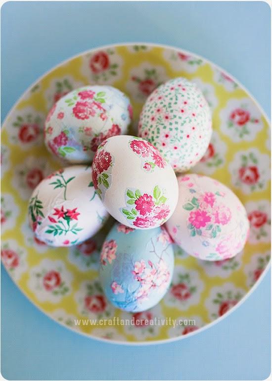 Decoupage de páscoa em ovos Artesanato para páscoa Como fazer em casa -> Como Enfeitar Ovo De Galinha Para Pascoa