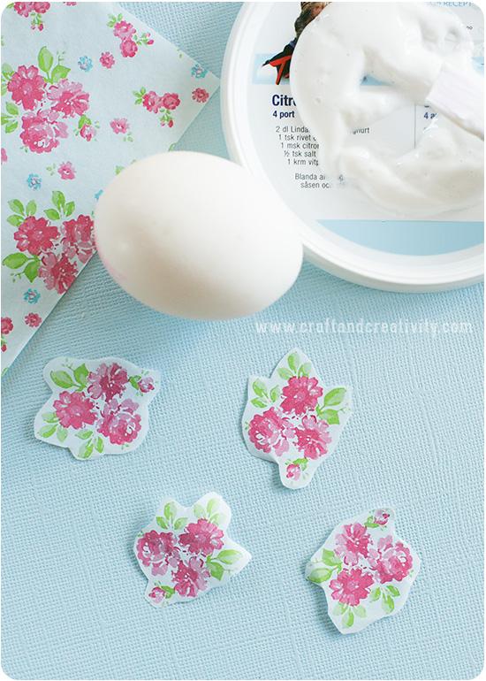 Artesanato Argila Branca ~ Decoupage de páscoa em ovos Artesanato para páscoa