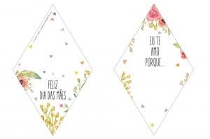 Molde de tag para cartão de Dia das Mães
