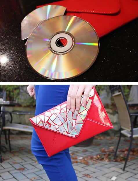 Artesanato com CD passo a passo
