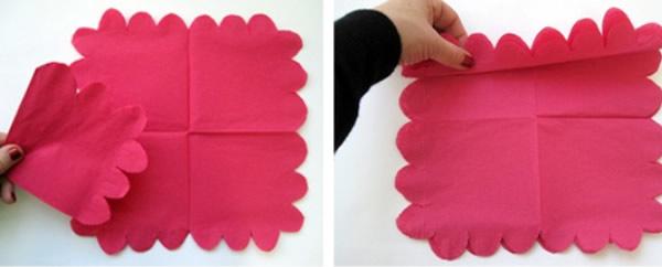 Flor de papel de seda passo a passo
