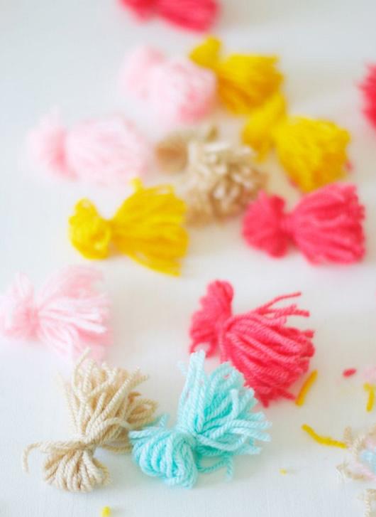 confecção de pompons