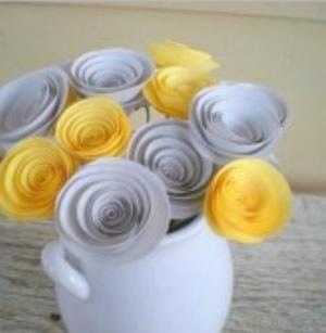 Molde para fazer flor de papel
