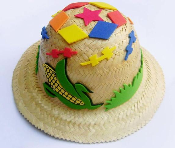 15 ideias para decorar Chapéu de Palha para Festa Junina  9502ac46c8a