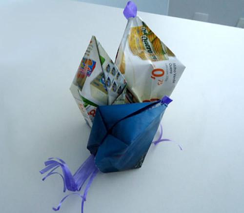 Decoração com material reciclado para Festa Junina