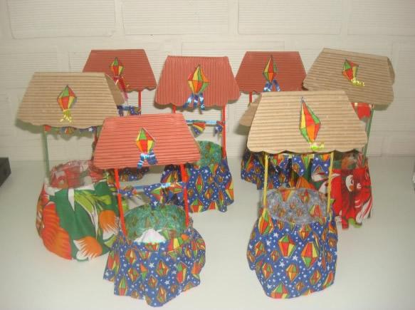 20 ideias com reciclagem para Festa Junina Como fazer em casa -> Decoração De São João Com Material Reciclado