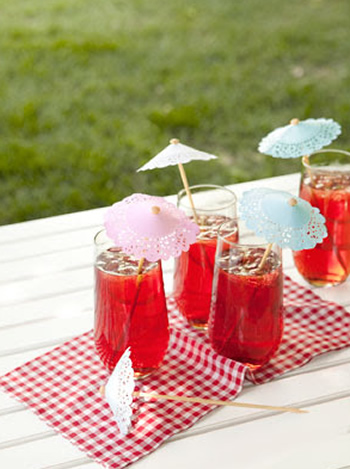 Mini sombrinhas para drinks e coqueteis