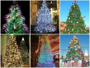 Super Árvores de Natal com Reciclagem
