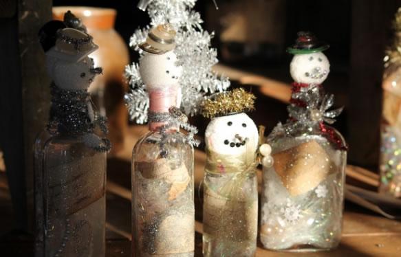 Boneco de Neve com Garrafa