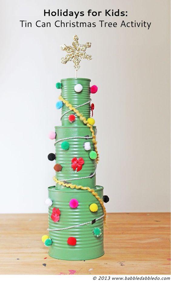 Enfeites de Natal com reciclagem