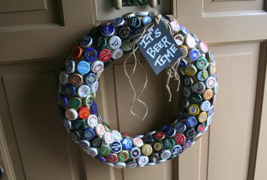 Guirlanda com Reciclagem para o Natal