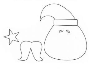 Molde para Papai Noel