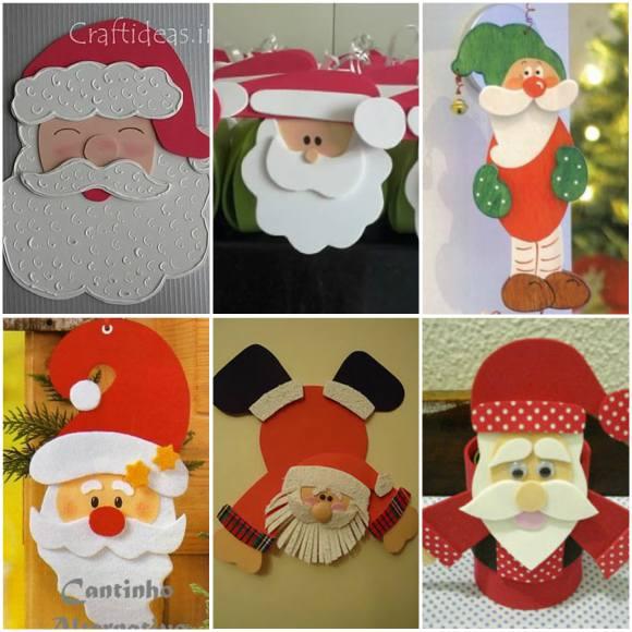 Papai Noel de EVA com Moldes