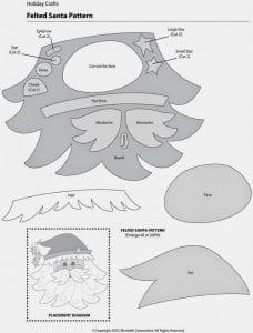 Moldes para fazer Papai Noel de Feltro