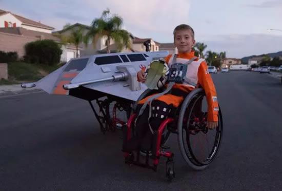 Fantasia para quem usa Cadeira de Rodas