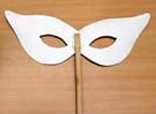 Máscara Carnavalesca com Molde para o Carnaval
