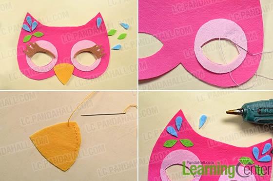 Máscara de Coruja em Feltro
