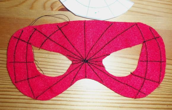 Máscara de Homem Aranha Passo a Passo