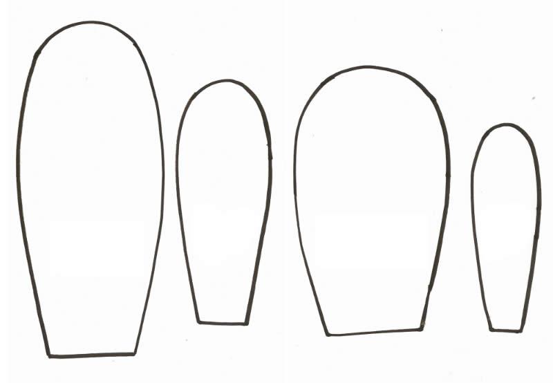 Moldes para Cesta de Páscoa de tecido