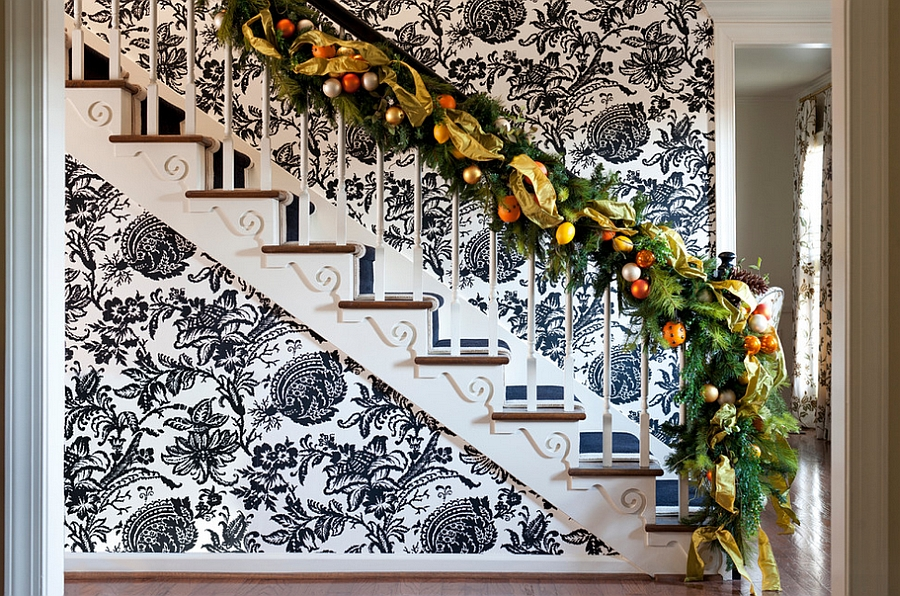 decorando escada com adesivo