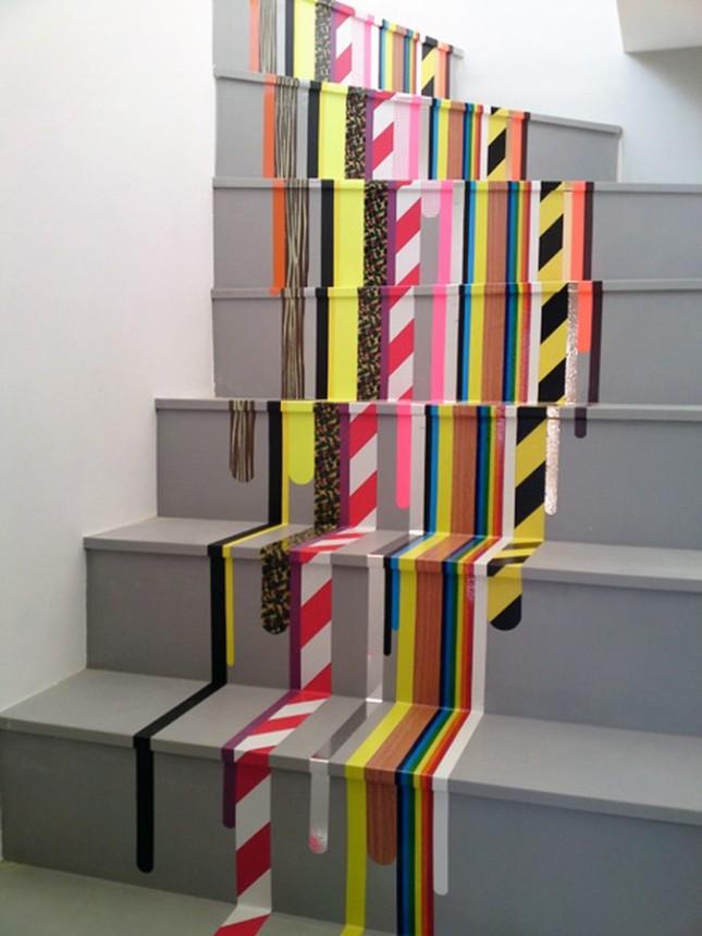 decorando escada com pintura