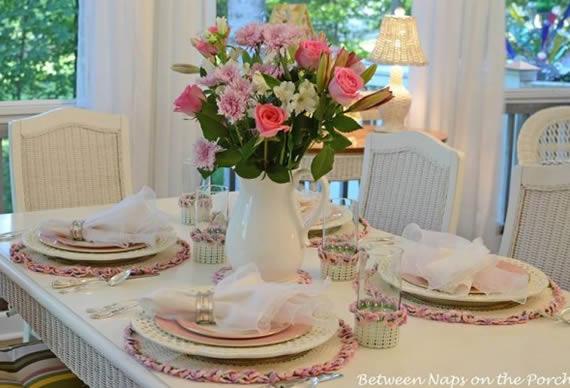 Decoraç u00e3o de Almoço para Dia das M u00e3es Ideias e Passo a Passo -> Decoração De Mesa Para Almoço Dia Das Mães