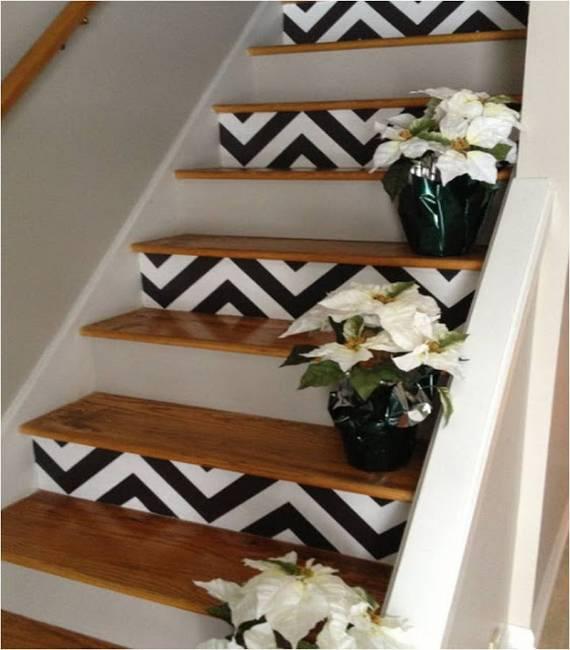 escada com adesivo moderno