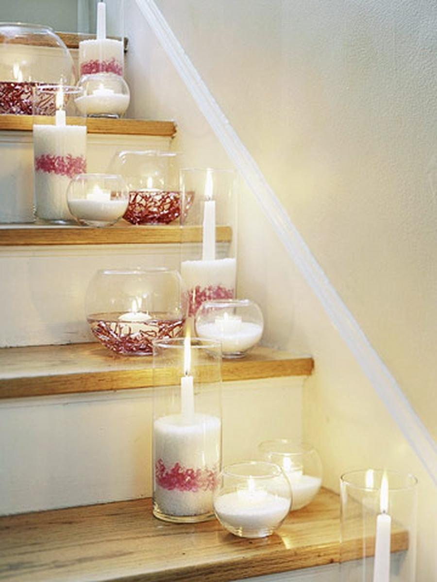 Como decorar escadas para ocasi es especiais 30 ideias for Adornos navidenos para escaleras