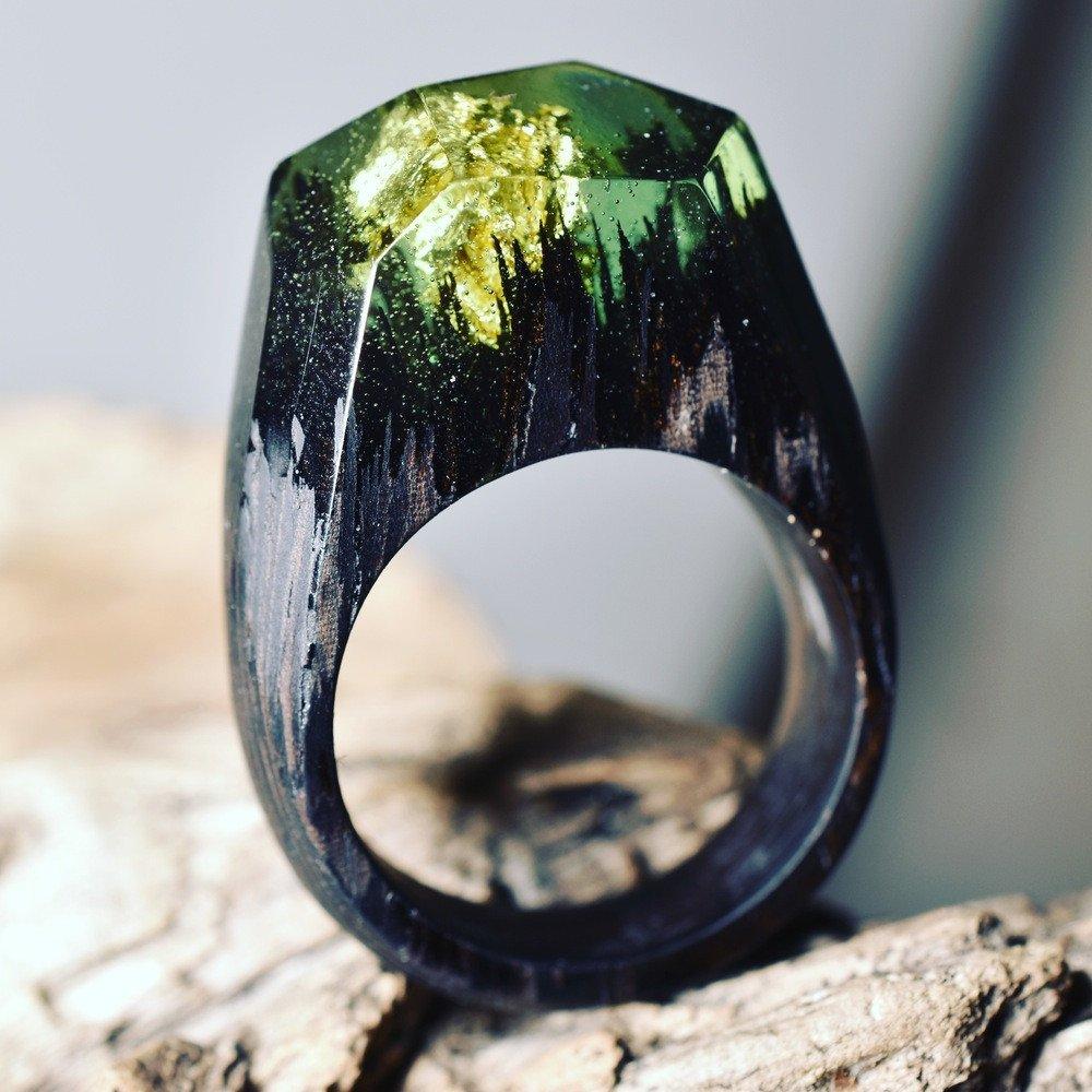 exemplo de anel em como fazer anéis em resina de poliéster