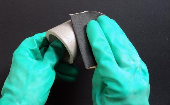 lixamento de Como fazer vaso de cimento