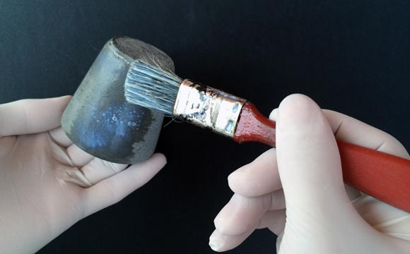 pintura de Como fazer vaso de cimento