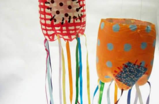 Decoração de Festa Junina com Garrafa PET