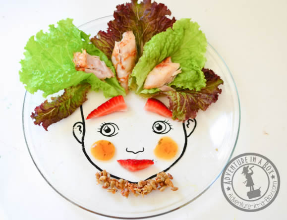 Como fazer arte com comida passo a passo