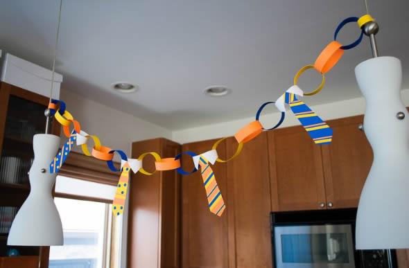 Enfeites para Decoração de Dia dos Pais com Moldes
