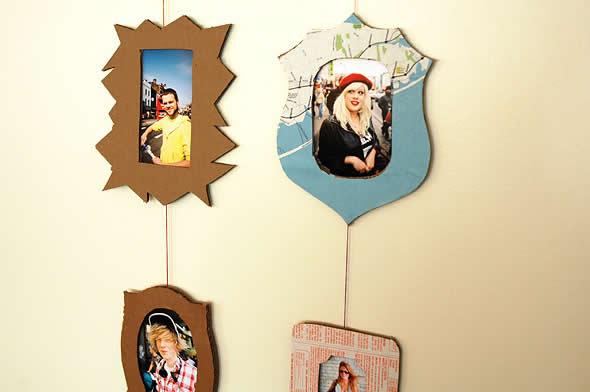 Como Fazer Porta-retratos com Papelão Passo a Passo