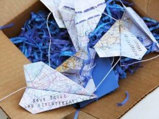 Presente Criativo de Dia dos Pais com Aviões de Papel