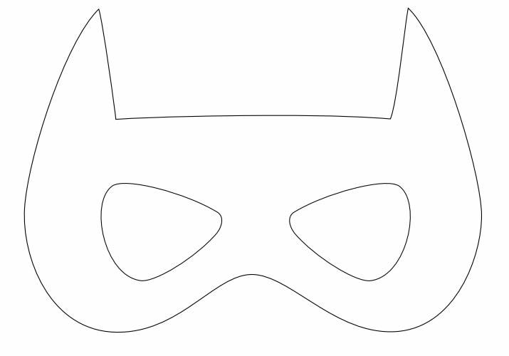 Molde para Máscara de Batman