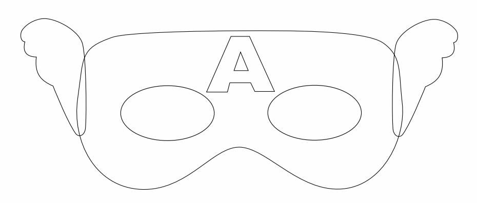 Molde para Máscara de Capitão América